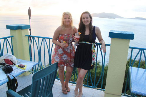 Getting High for Birthday Dinner in the BVI