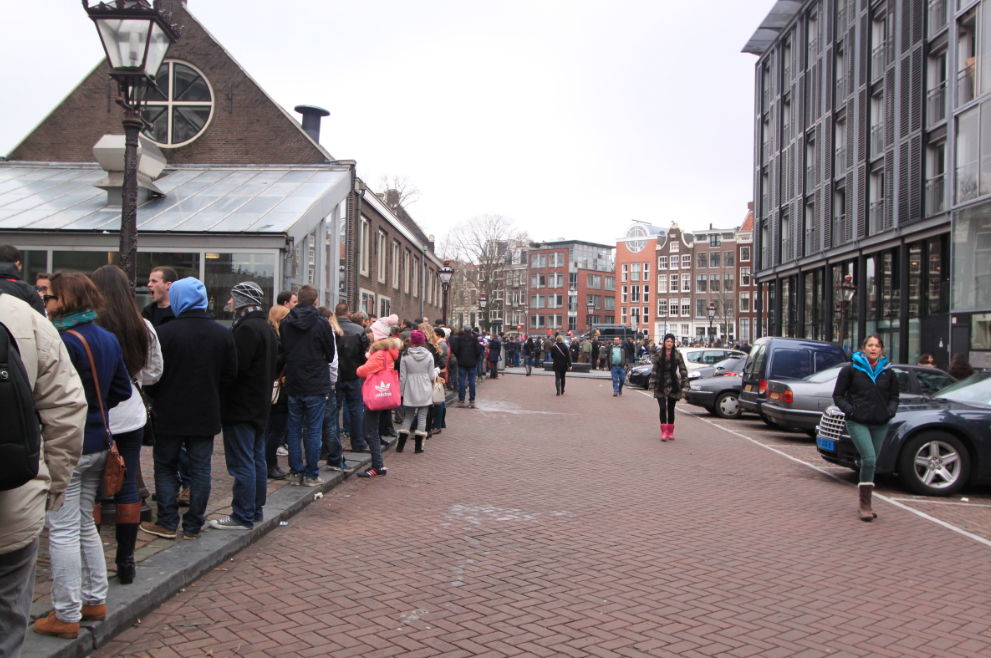 Queue at the Anne Frank House