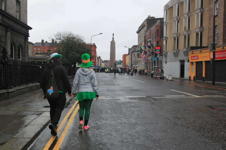 Couple heading to the St Patrick's Day Parade