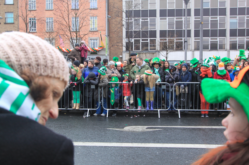Crowd at the St Patrick's Day Parade