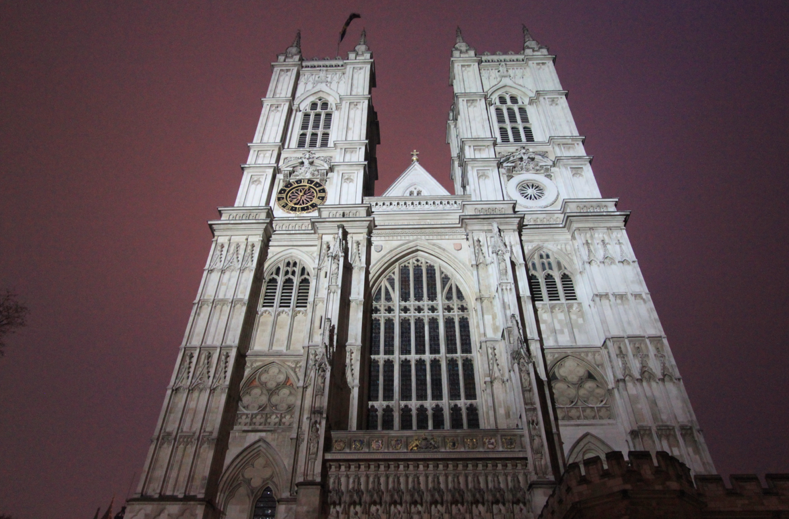 Westminster Abbey on a cold, rainy evening. So like, every evening in London.