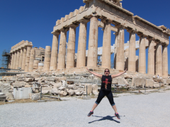 Jumping at the Parthenon