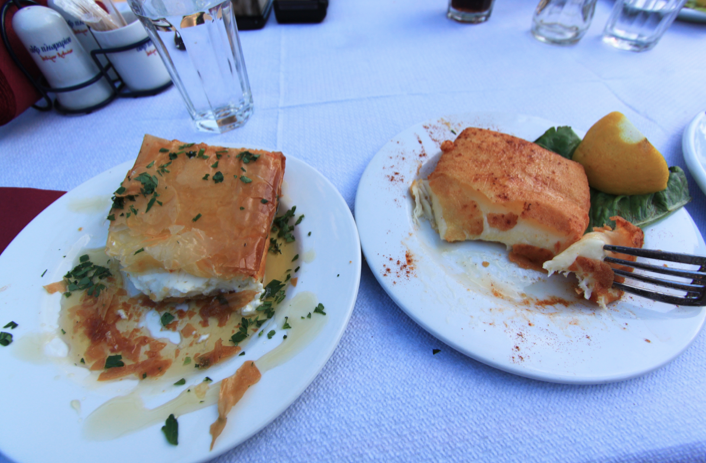 Feta and honey saganaki and pan-fried cheese in Athens. OH. MY. GOD. AMAZING.