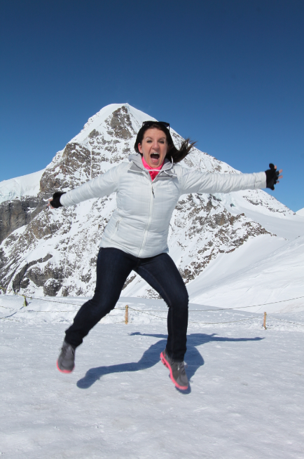 Jumping at Jungfraujoch