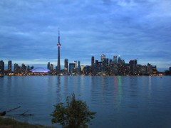 View of Toronto Skyline from Centre Island