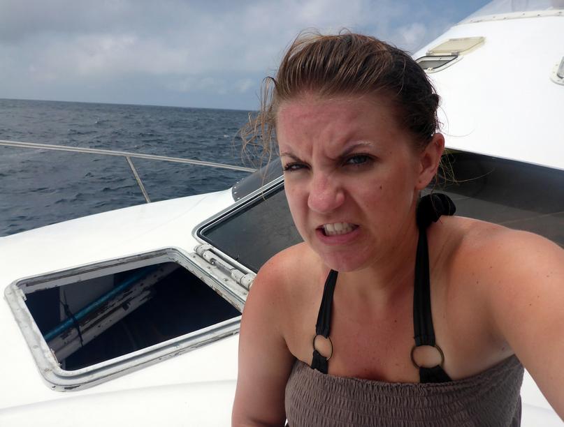 Seasick selfie