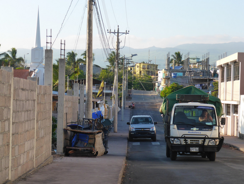 Biking the streets of Puerto Ayora