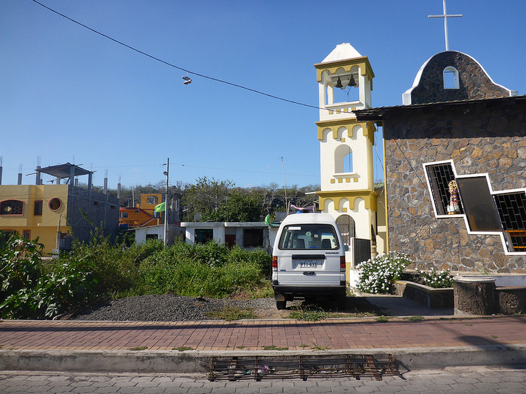Exploring the streets of Puerto Ayora