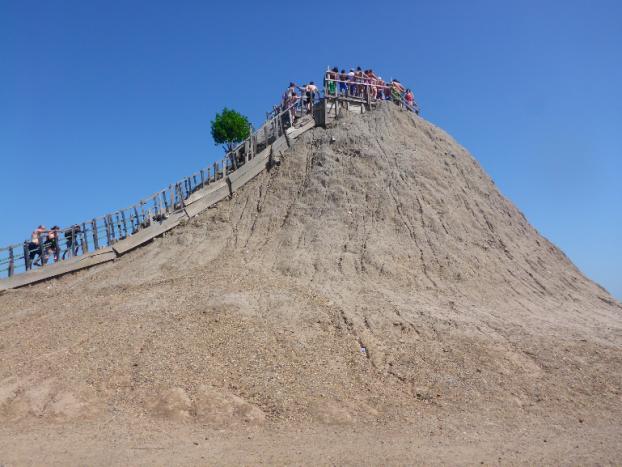 The mud volcano